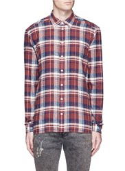 Faith Connexion Check Plaid Brushed Cotton Flannel Shirt Multi Colour