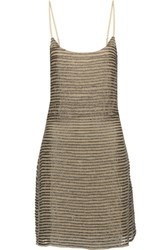 W118 By Walter Baker Shirley Embellished Lace Up Tulle Mini Dress Silver