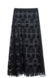 Giamba Embroidered Skirt Black