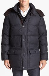 Men's Vince Camuto 680 Down Fill Quilted Hooded Anorak Charcoal