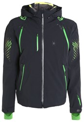 Spyder Pinnacle Ski Jacket Black Theory Green Bryte Yellow