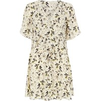 River Island Womens Cream Floral Print Frilly Dress