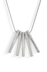 Treasure And Bond Women's 5 Bar Pendant Necklace Silver