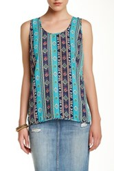 Daniel Rainn V Back Tank Blue