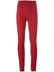 Marc Le Bihan Raw Edge Leggings Red