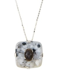 Stephen Dweck Druzy And Black Moonstone Pendant Necklace
