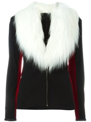 Jean Paul Gaultier Vintage Faux Fur Collar Jacket Black