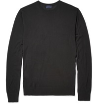 Lanvin Fine Knit Silk Sweater Black