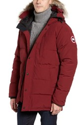 Canada Goose Men's 'Carson' Slim Fit Hooded Packable Parka With Genuine Coyote Fur Trim Slate