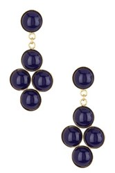 Yochi Design Quad Lapis Drop Earrings Blue
