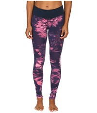 New Balance Premium Performance Tight Print Pants Guava Urban Floral Print Women's Casual Pants Pink