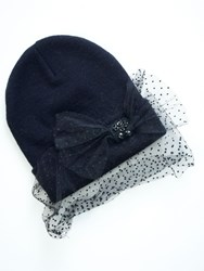 Relish Beanie With A Polka Dot Applicator Black