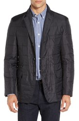 Corneliani Men's Quilted Blazer With Wool Blend Bib