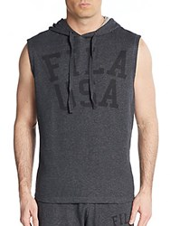 Fila Gym Rat Sleeveless Hoodie Black Heather