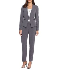 Tahari By Arthur S. Levine Jacket And Pants Suit Grey