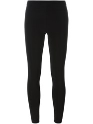 Alexander Wang T By Ribbed Leggings Black