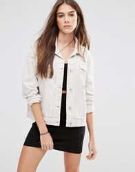 Pull And Bear Pullandbear Denim Jacket Beige Pink