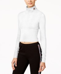 Fila Annie Cropped Turtleneck Top White
