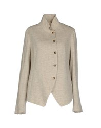 Forme D'expression Suits And Jackets Blazers Women Beige