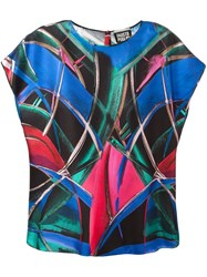 Fausto Puglisi Abstract Print Blouse Blue