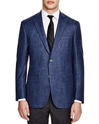 Jack Victor Loro Piana Sheppard's Check Classic Fit Sports Coat 100 Bloomingdale's Exclusive Navy