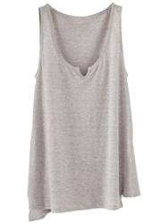 Poetry Striped Linen Jersey Vest Silver