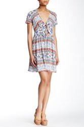 Romeo And Juliet Couture Printed Tie Front Dress Pink