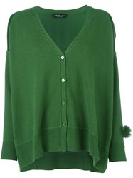 Twin Set Dolmain V Neck Cardigan Green