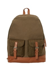 White Stuff Tweed Rucksack Khaki