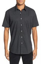 Zagiri 'Obsession' Regular Fit Short Sleeve Sport Shirt Black