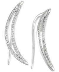 Wrapped In Love Diamond Ear Crawlers 1 5 Ct. T.W. In 14K White Gold