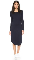 Cotton Citizen The Long Sleeve Midi Dress Super Navy