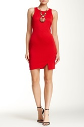 Romeo And Juliet Couture Jacquard Racerback Bodycon Dress Red