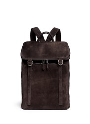Giorgio Armani Leather Back Suede Backpack Brown
