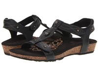 Aetrex Lori Adjustable Quarter Strap Black Women's Sandals
