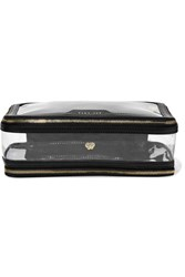Anya Hindmarch Inflight Leather Trimmed Perspex Cosmetics Case Black