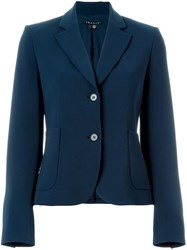 Theory Cropped Fitted Blazer Blue