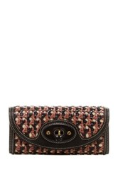 Ugg Woven Trifold Leather Wallet Brown