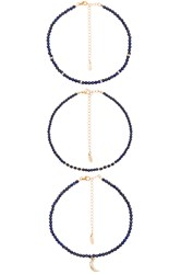 Ettika Still Suprise You Choker Set Navy
