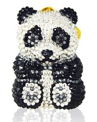 Judith Leiber Ling Panda Pillbox Black White Black White