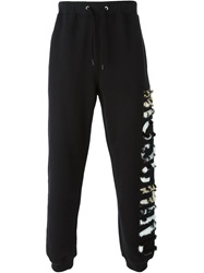 Moschino Textured Logo Track Pant Black