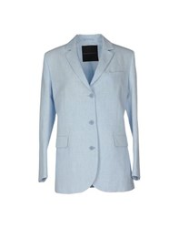 Ermanno Scervino Suits And Jackets Blazers Women Sky Blue