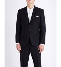 The Kooples Slim Fit Wool Jacket Black