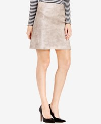 Vince Camuto Faux Leather A Line Skirt Ash Rose