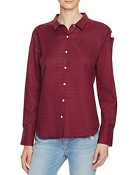 Dl1961 Mercer And Spring Gingham Button Down Shirt The Blue Shirt Shop Red Navy Gingham