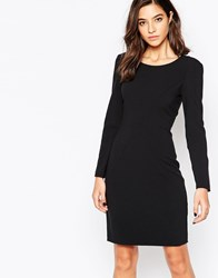 Sisley Bodycon Dress With Contouring Black