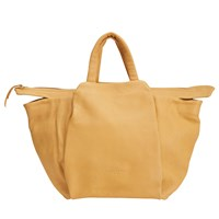 Liebeskind Nodafloate Leather Tote Bag Amber Yellow