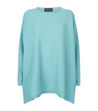 Eskandar Wide Cashmere Sweater Female Turquoise