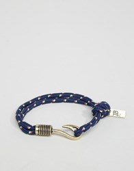 Icon Brand Hook Rope Bracelet In Red Multi