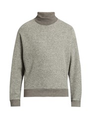 Wooyoungmi Roll Neck Wool Blend Felt Sweater Grey